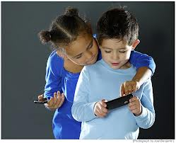 Children playing with video game 3