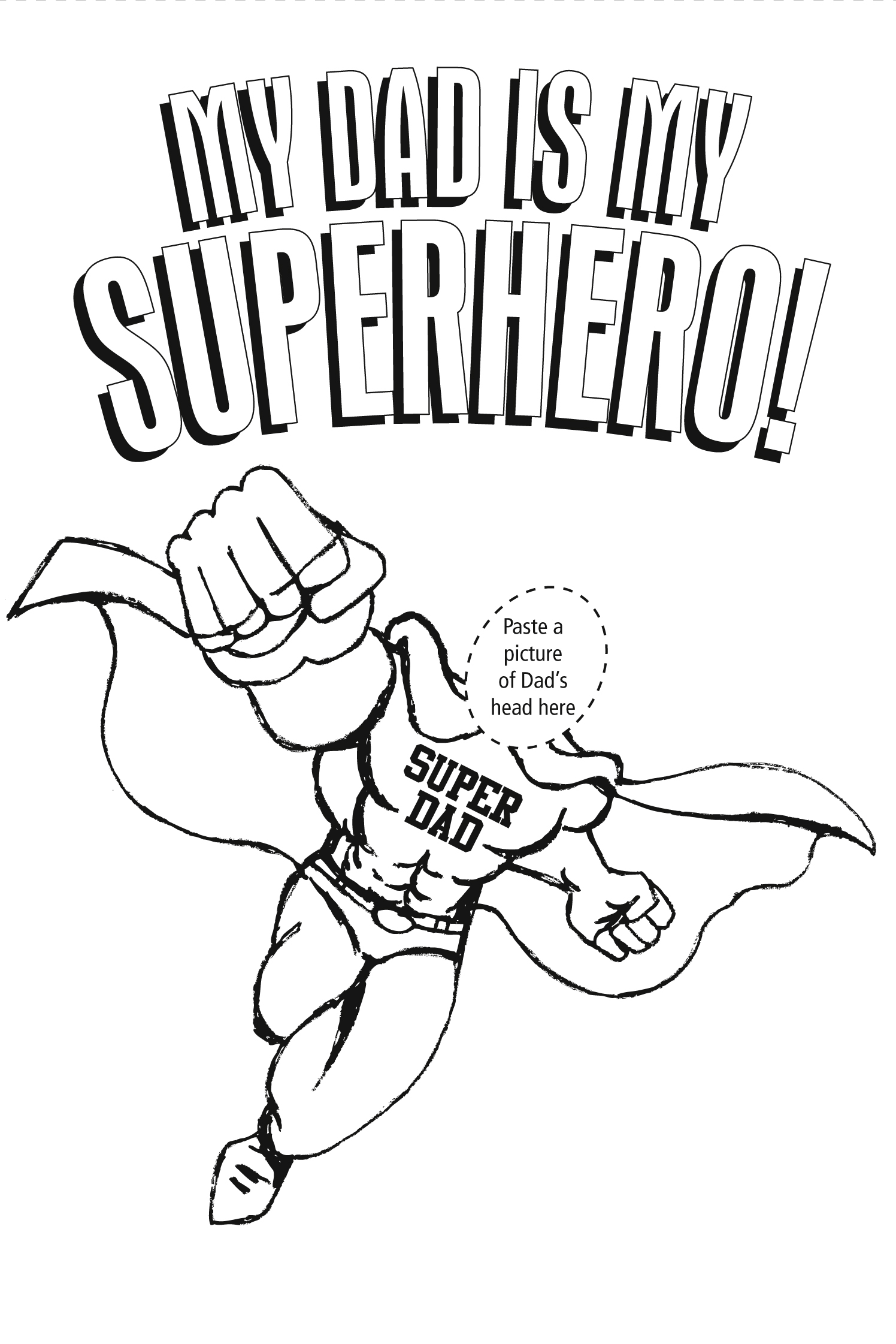 super dads coloring pages - photo#24