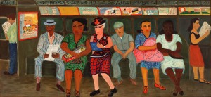 Ralph Fasanella (1914–1997) Subway Riders, 1950 Oil on canvas Collection American Folk Art Museum, New York Gift of Ralph and Eva Fasanella Courtesy MTA Arts & Urban Design