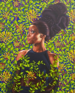 Kehinde Wiley (American, b. 1977). Shantavia Beale II, 2012. Oil on canvas, 60 x 48 in. (152.4 x 121.9 cm). Collection of Ana and Lenny Gravier, courtesy Sean Kelly, New York. © Kehinde Wiley. (Photo: Jason Wyche)