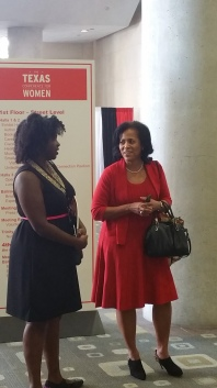 "Ebony Combs of ""imebony"" & Johnita Jones, Texas Conference for Women board president"