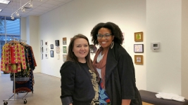 Ariel Davis of Fort Worth Community Arts Center Art7 Gallery with Lauren Cross