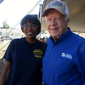 Former President Jimmy Carter at Habitat for Humanity