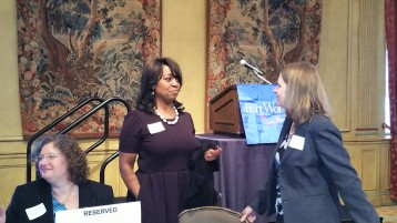 Networking with presenter Leah King
