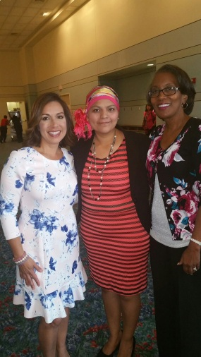 Deborah Ferguson with breast cancer survivor Irene Soriano